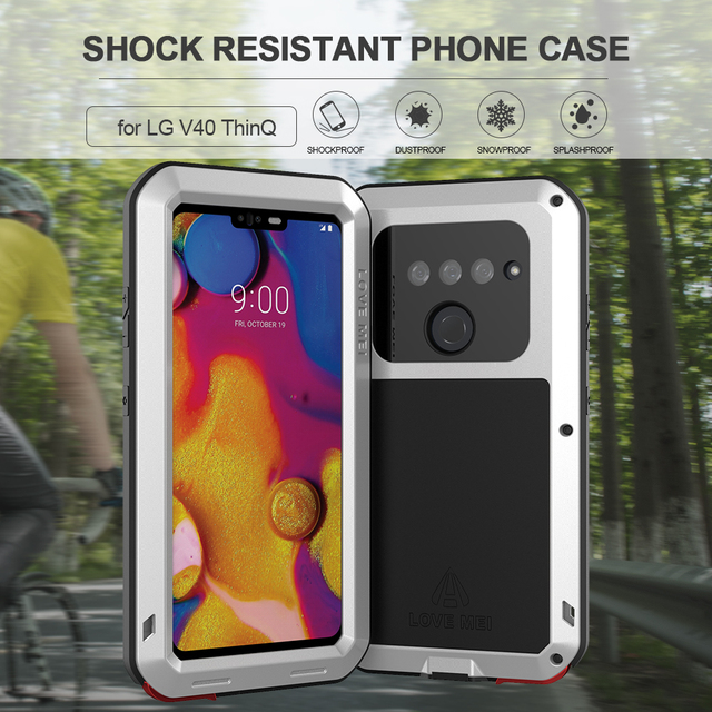 buy online b4276 4dfea US $29.67 47% OFF|For LG V40 ThinQ Phone Case Heavy Duty Protection Armor  Metal Hard Tempered Glass film lgv40 Full Cover Aluminum Silicon Casings-in  ...