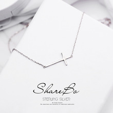 New Arrival 925 Sterling Silver Cross Necklaces Pendant Hot Sale Pure Jewelry for Women