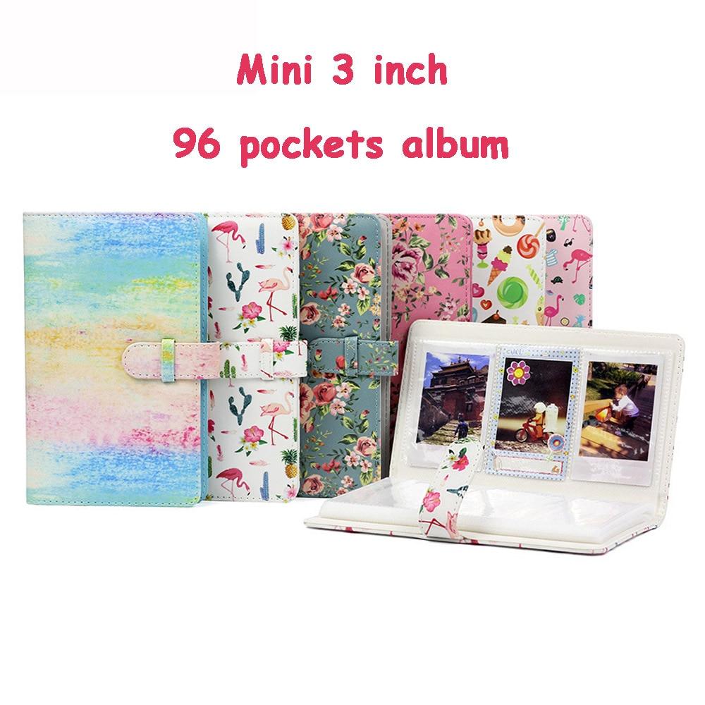 цена на New 3 Inch 96 Pockets Mini Photo Album Fujifilm Instax Mini 9 Films Instax Mini 8 7s 70 25 50s 90 Name Card Photo Book Album