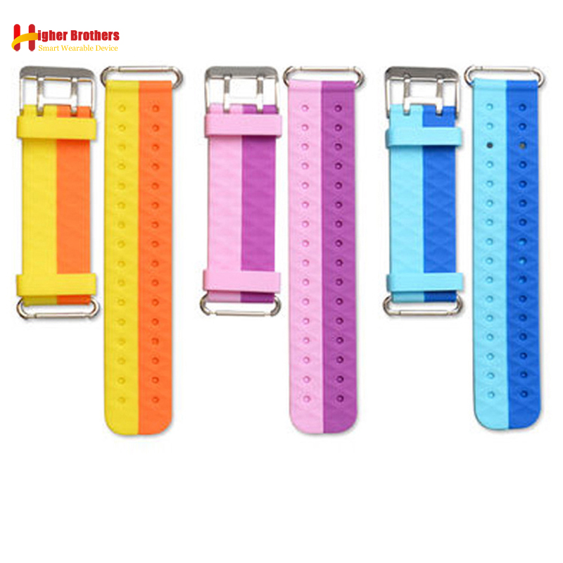 Remplacer Montre Smart Watch Bracelet pour Q750 Q100 Q60 Q80 Q90 Sangle Enfants de GPS Tracker Bracelet Silicone Courroie De Poignet avec connexion