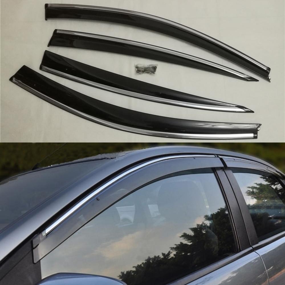 Door Windows Sun Visor Shield Vent Wind Deflector Molding Rain Guards For Infiniti G25 G35 G37