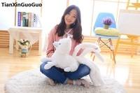 large 60cm cute fox plush toy white cartoon fox with nine tails, soft doll throw pillow birthday gift s0745
