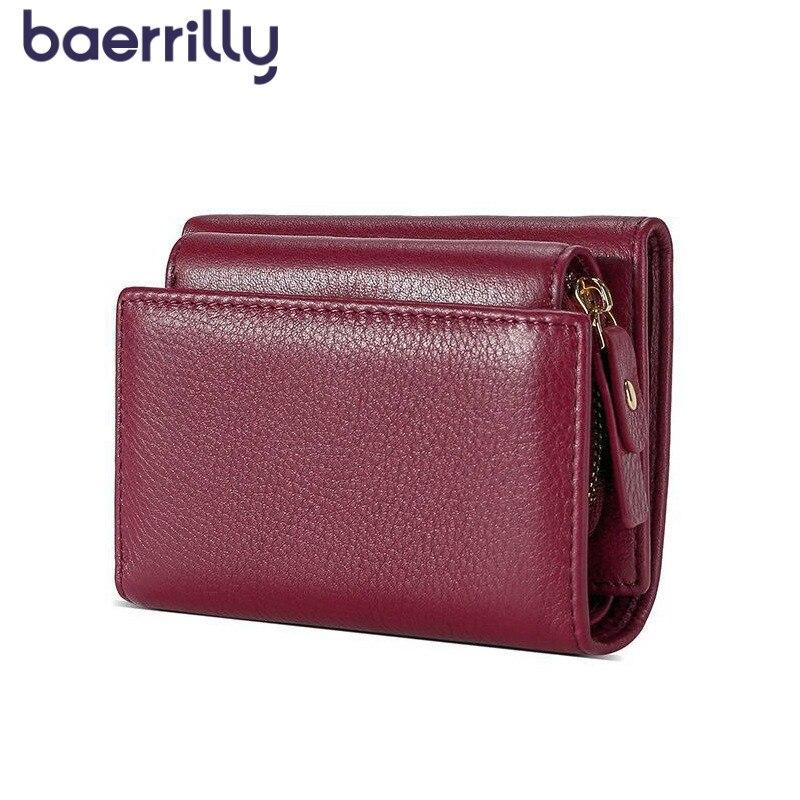 2019 Genuine Leather Wallet Fashion Women Wallet Money Pocket Short Clutch Bags Card Holder Female Coin Purse Zipper Carteira