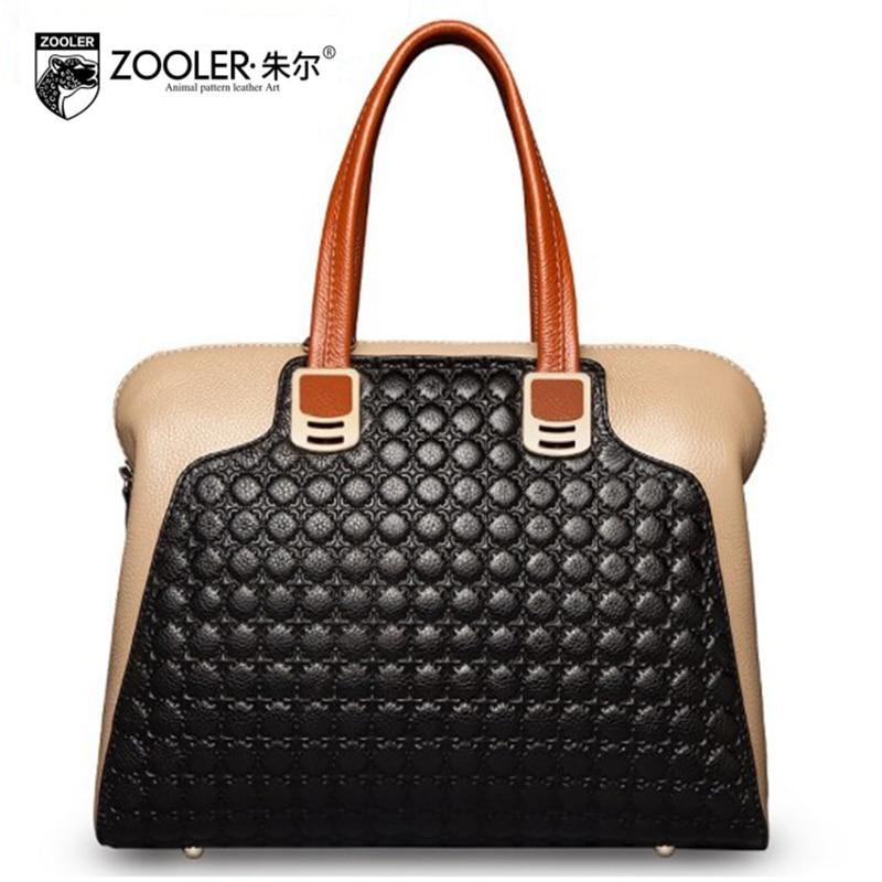 CHAUDE Véritable sac à Bandoulière En Cuir ZOOLER 2018 de luxe sacs à main femmes sacs designer Haute qualité fourre-tout sacs bolsa feminina #2586