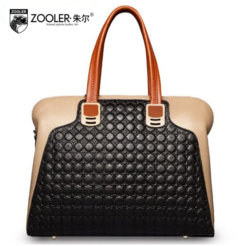 HOT Genuine Leather Shoulder bag ZOOLER 2018 luxury handbags women bags designer High quality tote bags bolsa feminina #2586 mara s dream 2018 luxury handbags women bags designer high quality canvas casual tote bags shoulder bags female bolsa feminina