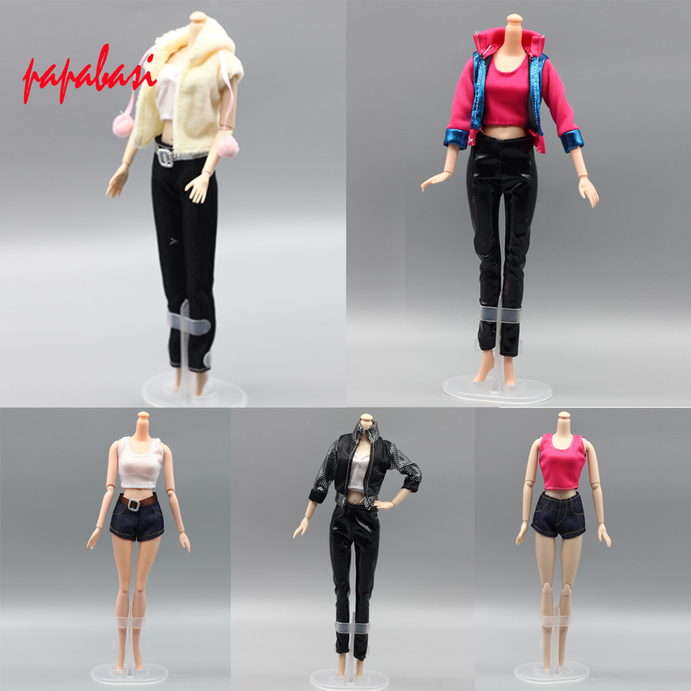 5pcs lot Clothing Sets For Barbie Doll Clothes Casual Dress Suits for barbie 1 6 Toys
