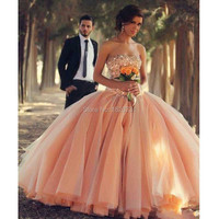 2019 Quinceanera Dresses Strapless Coral Organza Crystals Beaded Lace up Back Ball Gown Debutante Dress vestidos de ga Ball Gown