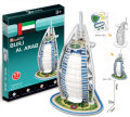 Cubicfun Mini 3D Puzzle Burj Al Arab Model Dubai Construction 17pcs 12*13*22cm S3007