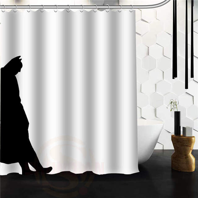 Hot Custom Shadow Of Batman Shower Curtain 48x72 60x72 66x72 Bath ...