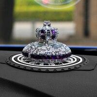 Car Ornament Crystal Diamond Crown Automobiles Decoration Perfume Seat Auto Interior Fragrance Aroma Ornaments Air Fresher