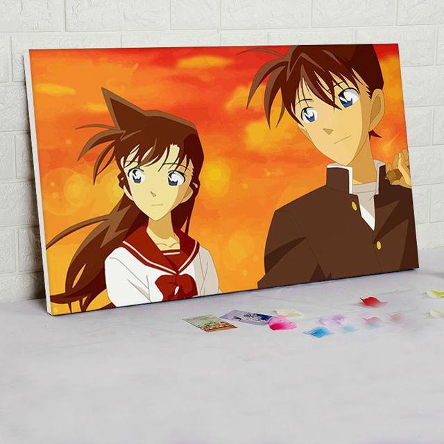 Us 140 Diy ölgemälde Detektiv Conan Digitalen Malen Nach Zahlen Japan Stil Cartoon Bilder Modulare Malerei Geschenk Anime Poster In Diy