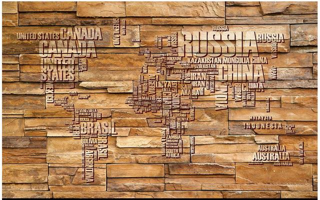 Customized 3d photo wallpaper 3d wall murals wallpaper world map customized 3d photo wallpaper 3d wall murals wallpaper world map brick wall tv setting wall paintings gumiabroncs Gallery