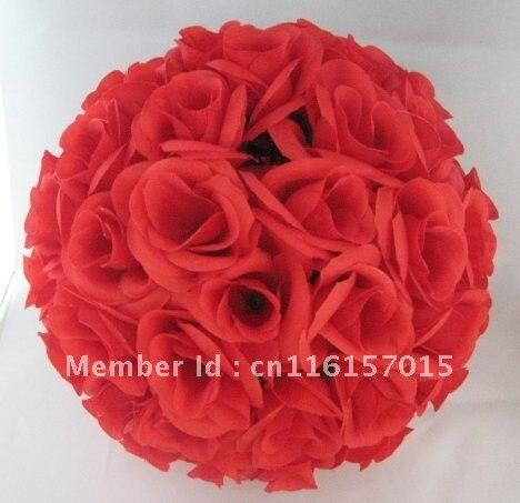 20cm červená plastová vnitřní svatební kytice