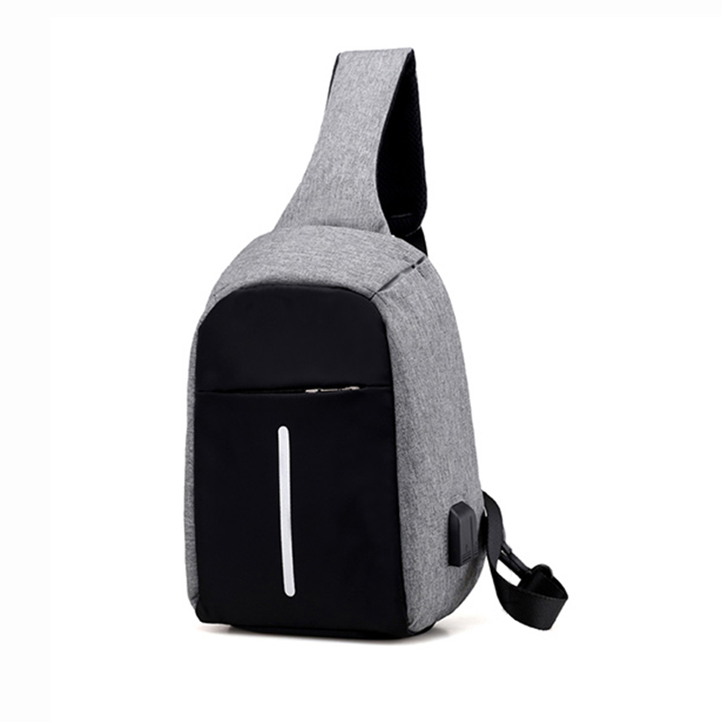 LJL Crossbody Bags for Men Messenger Chest Bag Pack Casual Bag Canvas Single Shoulder Strap Pack 2018 New Fashion