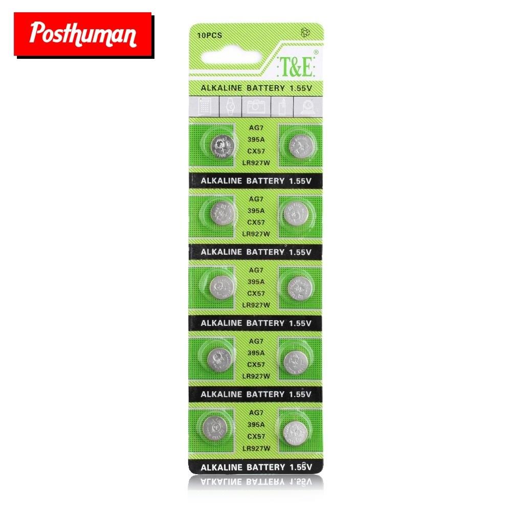 POSTHUMAN Watch Battery Button Coin Cell 10pcs 1.5V 395 SR927SW 399 SR927W LR927 LR927W SP395 SR927 610 AG7