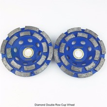 цена на 2PK Diamond  double row Grinding Cup Wheel for granite and hard material, Diameter 100mm, bore 22.23mm with 16mm washer