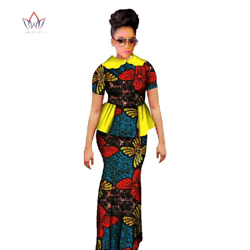 Plus Size 2019 Dashiki African Wax Տպելու փեշ - Կանացի հագուստ - Լուսանկար 3