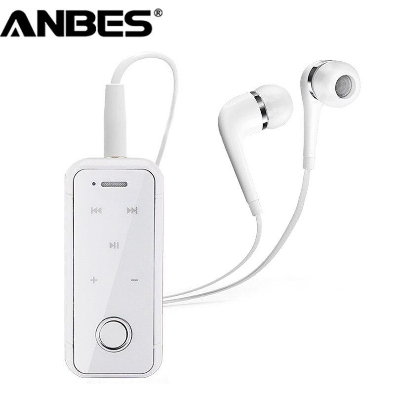 ANBES Clip Sur Sans Fil Bluetooth Casque Écouteur Casque Sport Musique Stéréo Auriculares Pour Xiaomi Samsung iPhone Ordinateur Portable