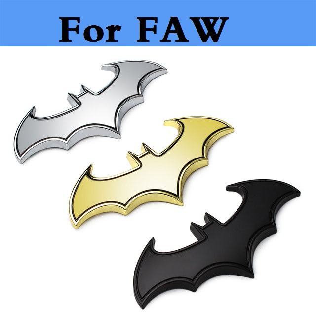 3D Metal Car Batman Bat Sticker Badge Decal decoration style for FAW Besturn B50 Besturn ...