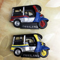 Free shipping 1pc Retail Resin Figure Tailand Taxi toy Tuk-Tuk Tourist cute car home office fridge decoration magnet gifts