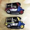 Frete grátis 1 pc Varejo Resina Figura brinquedo Táxi Tuk-Tuk Tailândia Tourist carro bonito home office decoração frigorífico presentes ímã