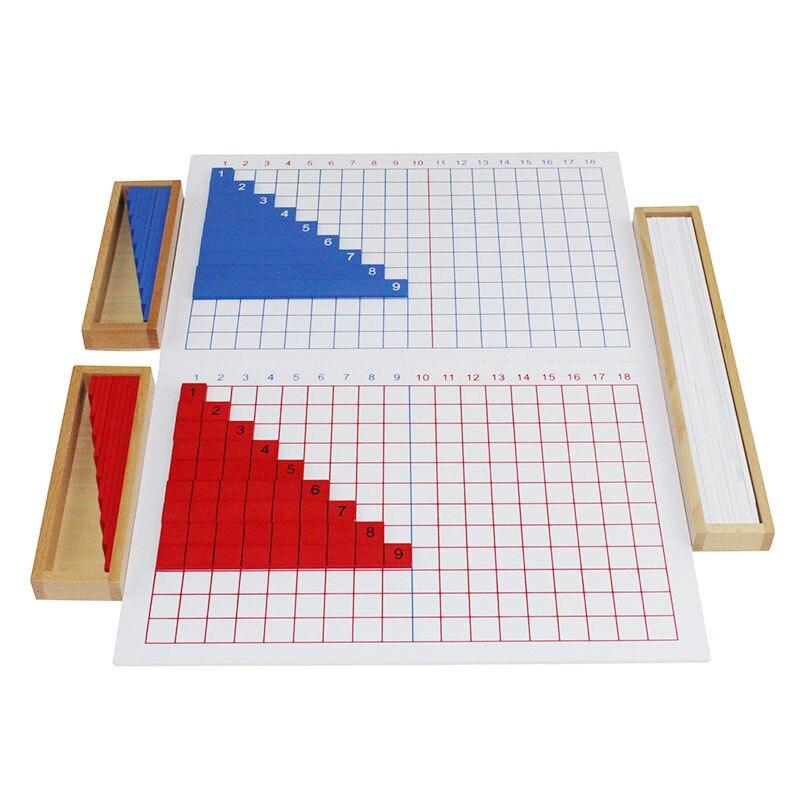 Montessori premiers outils pédagogiques mathématiques Puzzle jouet Addition et soustraction conseil bébé jouet en bois - 2