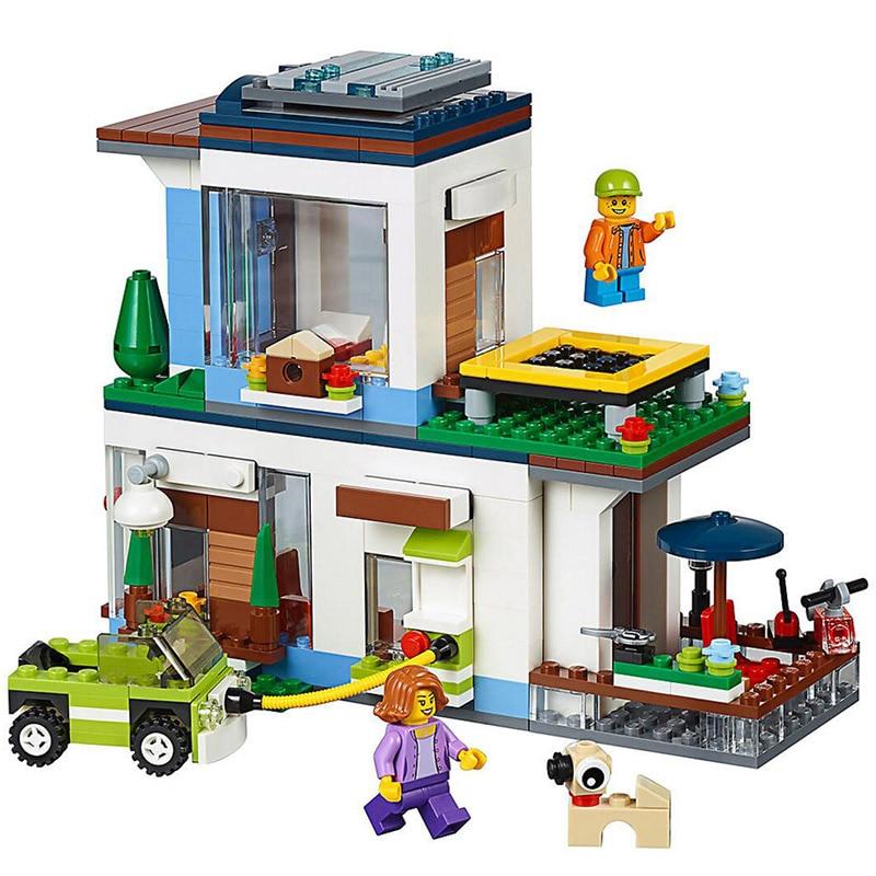 Lepin 24048 Creative Bricks Toys 432Pcs The 31068 Modern Home Set Lepin Building Blocks Kits Funny Kids Toys as Birthday Gifts lepin 16051 toys 1078pcs ship in a bottle legoingly 21313 sets building nano blocks bricks funny toys for kids birthday gifts