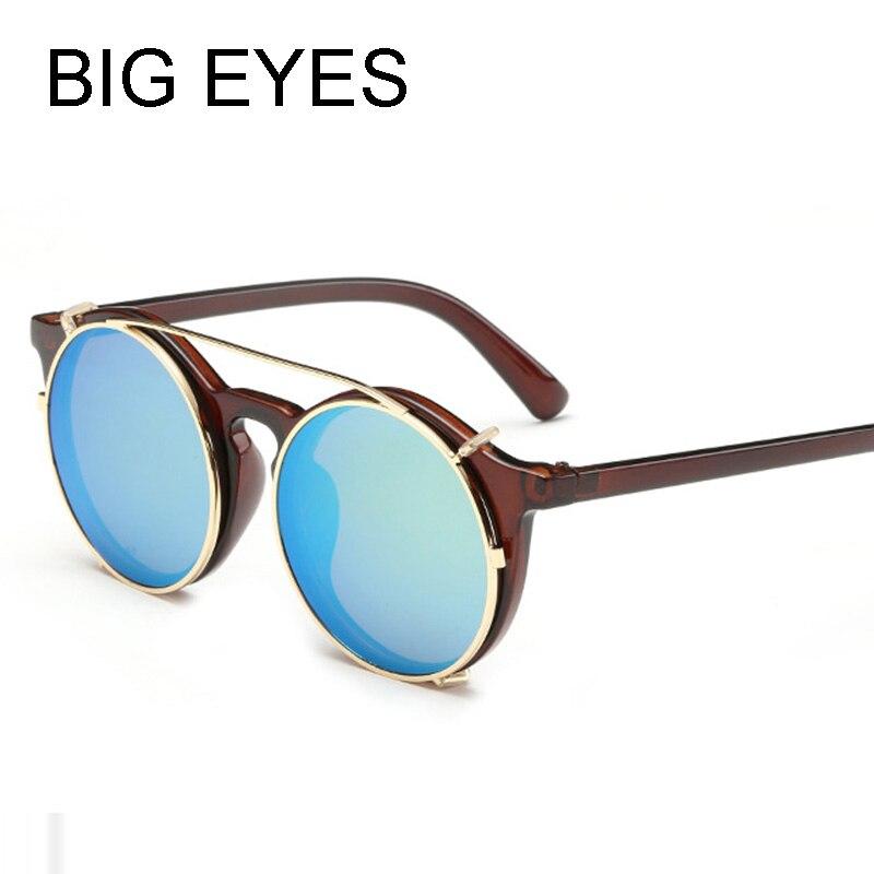 2016 New steampunk Retro Women round Sunglasses Unisex Metal vintage flat  top gold silver Men Fashion Sun eyewear Glasses UV400 - us21 cceb7871f0