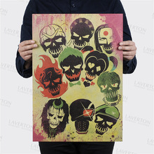 Suicide Squad Style B/classic science film movie/kraft paper/bar poster/Retro Poster/decorative painting 51×35.5cm Free shipping