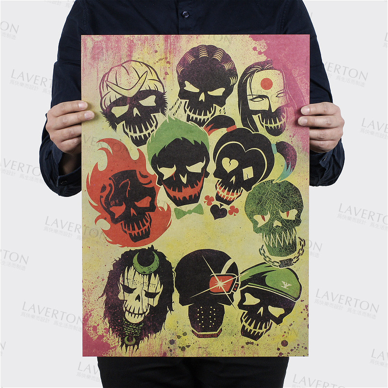 Suicide Squad Style B/classic science film movie/kraft paper/bar poster/Retro Poster/decorative painting 51x35.5cm Free shipping