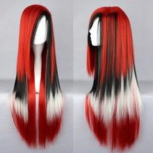 Alta calidad de hombres / largo del gradiente pelucas Cospaly colorido de Anime Lolita pelo sintético para niños / niñas
