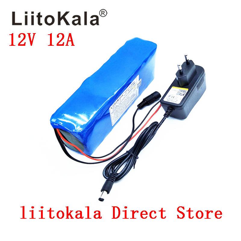 Liitokala <font><b>12v</b></font> <font><b>12ah</b></font> <font><b>battery</b></font> pack camera camera <font><b>battery</b></font> <font><b>lithium</b></font> <font><b>ion</b></font> charger recargable El, BMS bicicleta El ctrica de and charger image