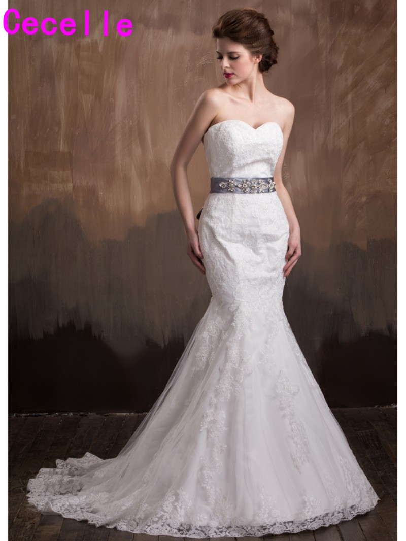 2017 Vestidos De Novia Long Mermaid Wedding Dresses Sweetheart ...