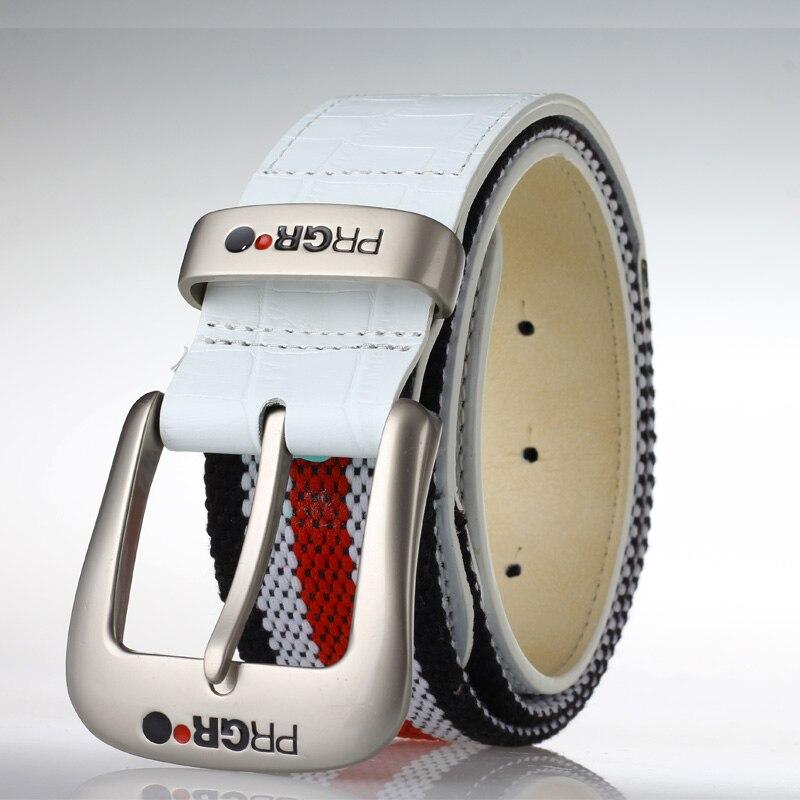 цена на men golf waistband sports belt for pants white knit belt and genuien leather strap top waistbelt for trousers