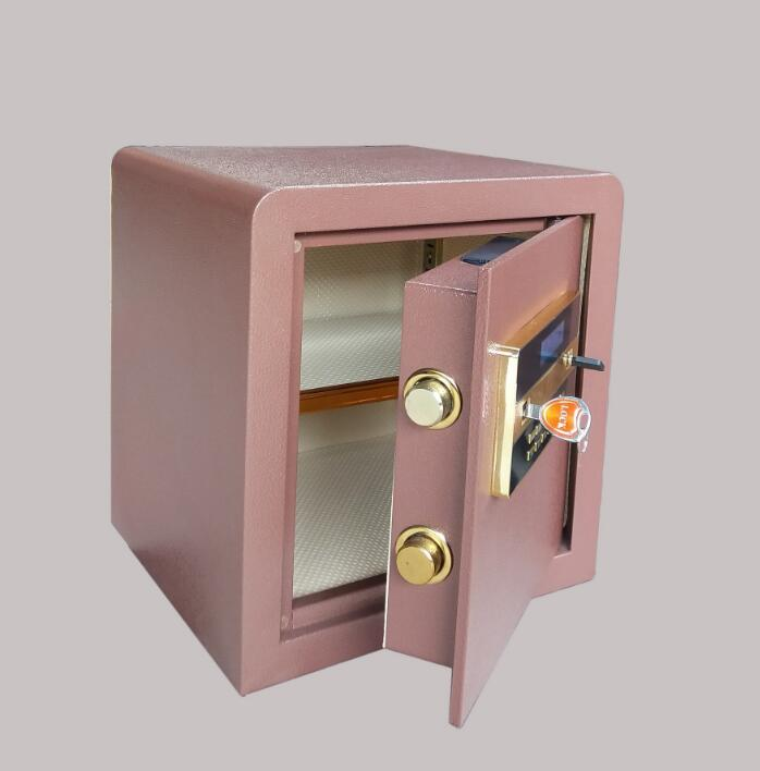 Home office heavy fire resistant semi steel electronic deposit box alarm code box strength factory safety cabinet XD 430
