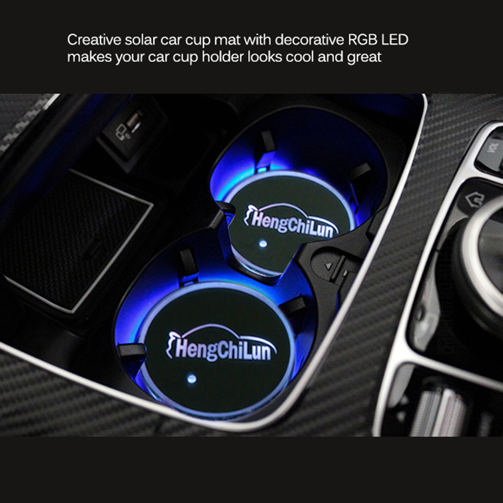 Colour changing car technology - 1pcs Rechargeable Rgb Led Car Cup Mat Pads Color Changing 17 Modes Car Cup Bottle Drinks Coaster Holder With Usb Charger In Anti Slip Mat From Automobiles