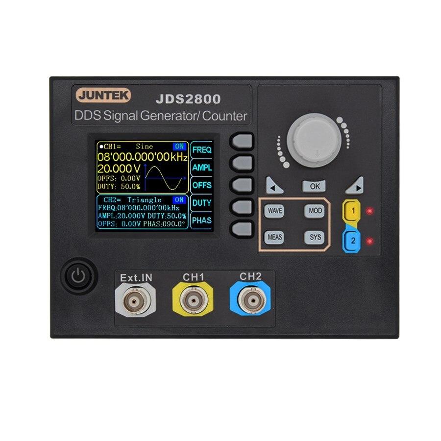 JDS2800-15M 15 мГц генератор сигналов цифровой управление двухканальный DDS генератор импульсов источник сигнала метр Скидка 40%