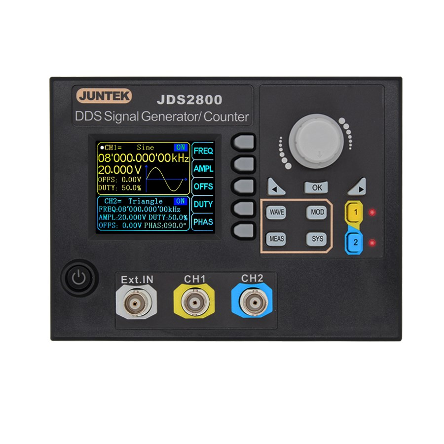 JDS2800-15M 15 MHZ générateur de Signal contrôle numérique double canal DDS générateur de Signal compteur de Source de Signal d'impulsion 40% de réduction