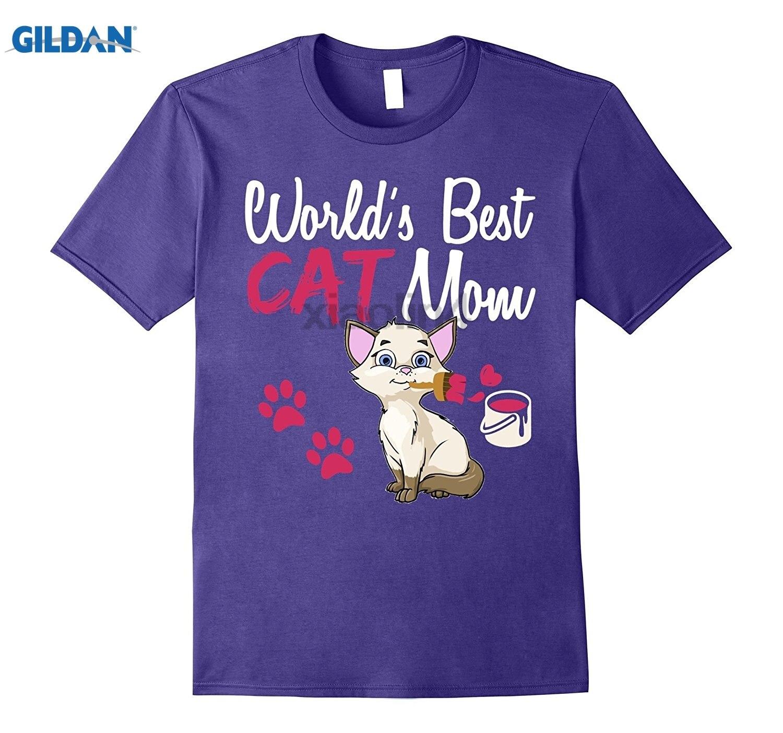 Возьмите День матери подарок футболка мире best кошка мама. Милые лапы Мода Настраиваемые Горячие футболка Солнцезащитные очки женские футбо...