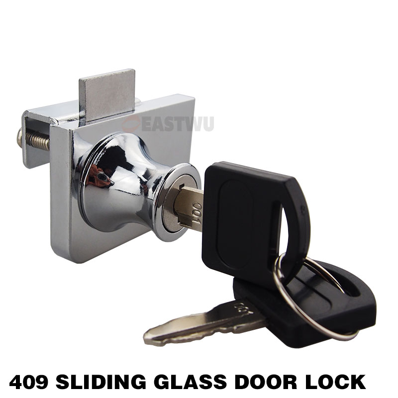 409 Double Swing Glass Cabinet Door Lock Chrome Plated All