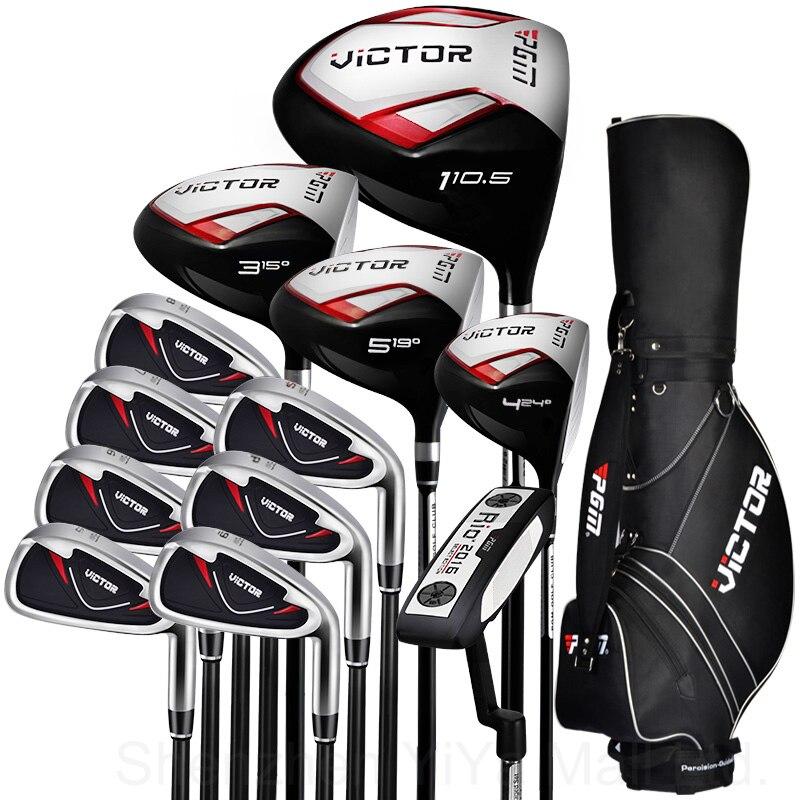 De golf de pgm-victor adultos cue kit junior palos de golf conductor hombres Con
