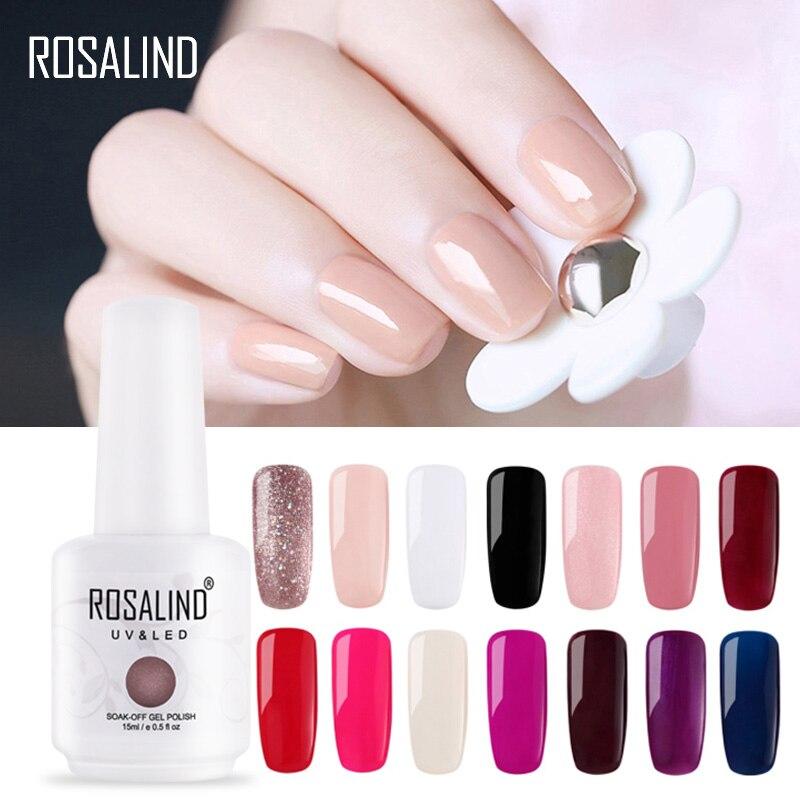 Vernis à ongles ROSALIND 15 ml 1323-1532 vernis Gel pour la conception dart des ongles manucure lampe à LED UV