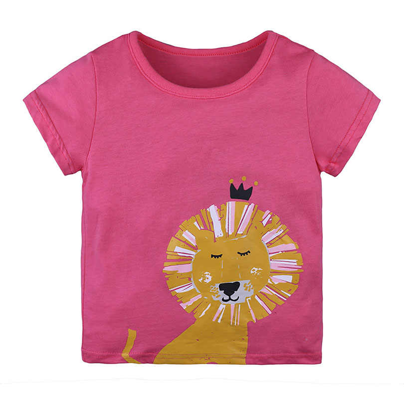 Unicórnio Leão Marca de Qualidade 100% Algodão Meninas Do Bebê Verão T-shirt Roupas Para Crianças T Dos Miúdos Dos Desenhos Animados T Camisa Do Bebê Roupas Das Meninas