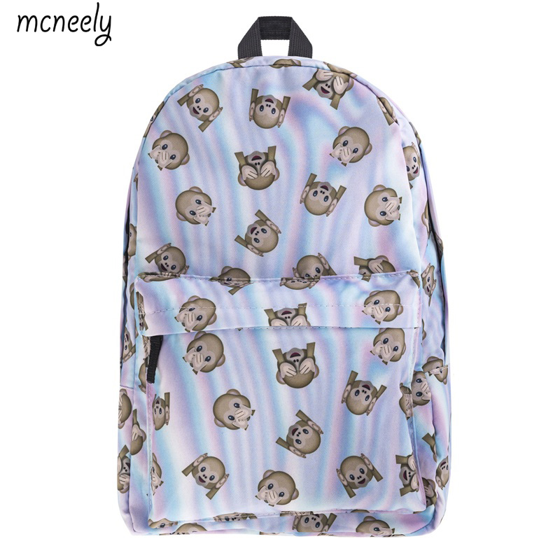 Luggage & Bags Provided Coloranimal Cartoon Elephant Teenager Girl Boys Escolar Backpack Children Kids Large Student School Bookbag Cute Monkey Rucksack Refreshment Kids & Baby's Bags