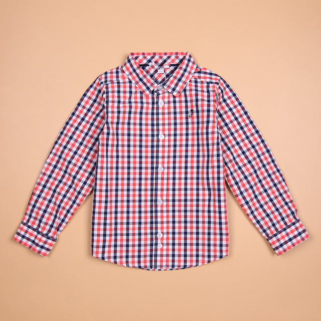c54b28dafaacec Brand Tops blouse button down casual checked clothes Baby boy shirt Kids  shirts boys 3-10 years