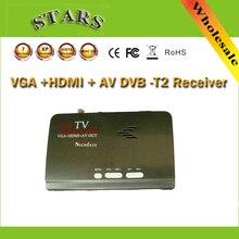 Dijital HDMI DVB T T2 dvbt2 TV kutusu VGA AV CVBS TV alıcısı dönüştürücü ile USB dvb t2 Tuner Mpeg 4 H.264 uzaktan kumanda ile