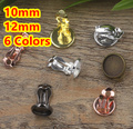Cabochon 10mm,12mm 100pcs/Lot Antique Bronze/Gold/Silver/Black French Copper Earring Tear Drop studs cameo,earrings base stud