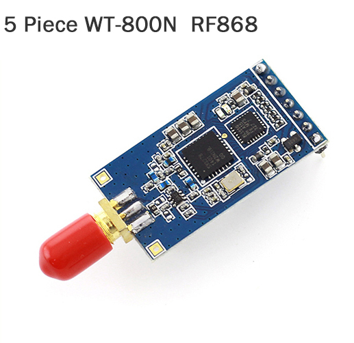 5 Pieces WT-800T RF 433 Module LoRa modulation LoRa Module Low Power Spread Spectrum Wireless Module Long range
