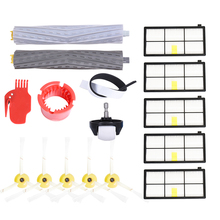 Extractor Filters Side Brush Sets for iRobot Roomba 800 900 Series 805 860 870 871 880 890 960 980 Vacuum Cleaner Spare Parts( replenishement kit for irobot roomba 800 900 series 805 860 870 871 880 890 960 980 vacuum accessories replacement parts