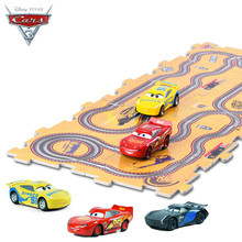 Disney Pixar Cars 3 2017 New Kids Toys 2pcs Electric Track Cars Christmas Gifts for Boy Girl Children with 10pcs Tracks DIY